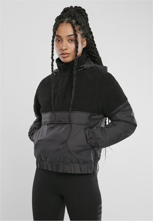 Winter jacket - black/black