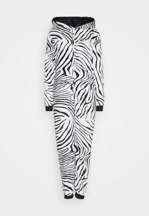 ZEBRA PRINT ALL IN ONE WITH EARS - Pyjamas - black/white