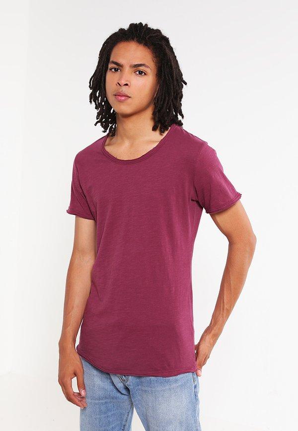 Key Largo T-shirt basic - dark red/bordowy Odzież Męska BBHH