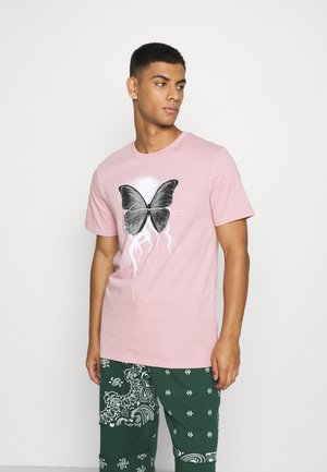 BUTTERFLY TEE - Print T-shirt - dusty pink