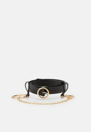 PCONITA WAIST BELT - Ceinture taille haute - black/gold-coloured
