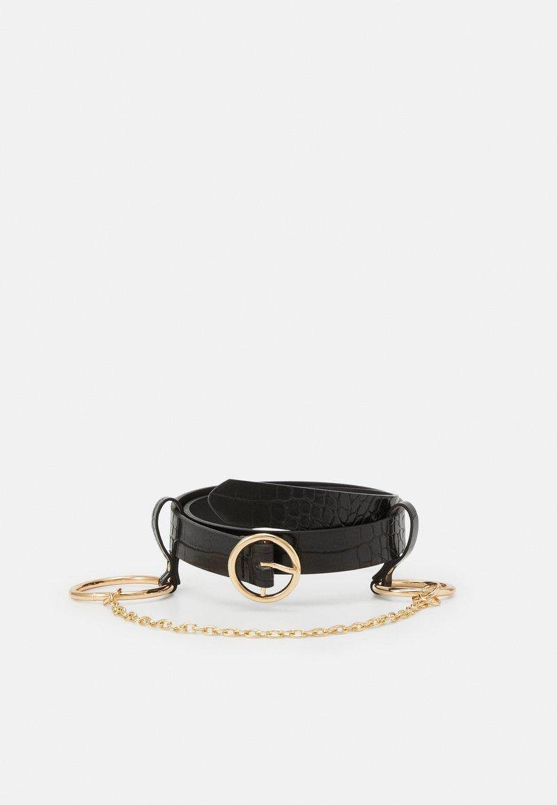 Pieces - PCONITA WAIST BELT - Waist belt - black/gold-coloured