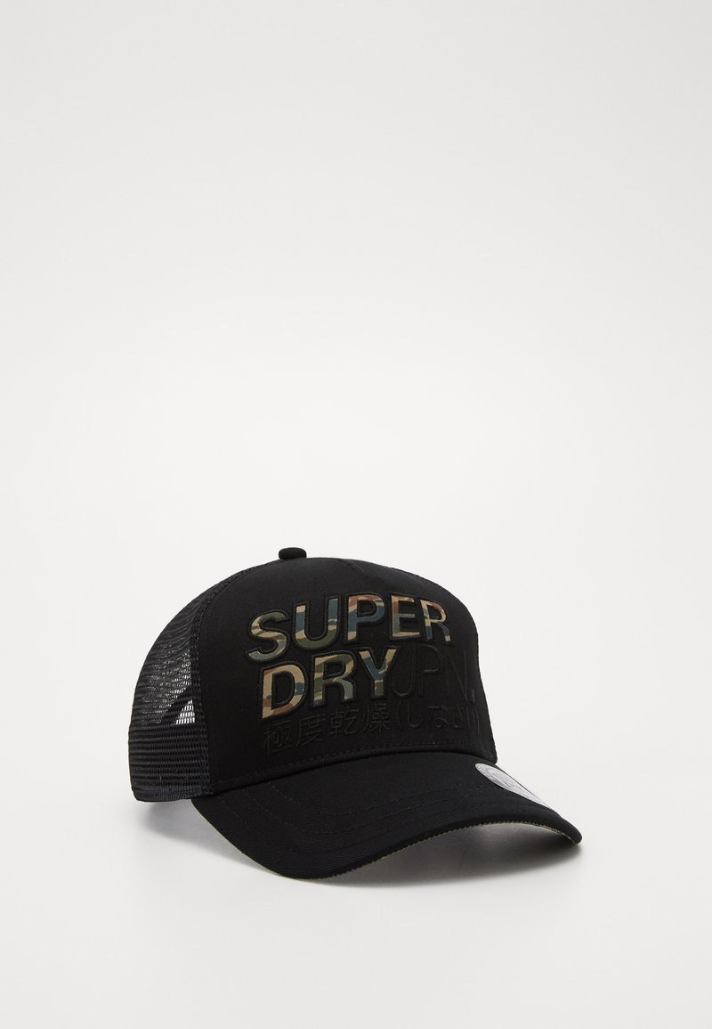 Superdry - LINEMAN TRUCKER - Cap - black