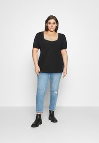 Even&Odd Curvy - T-shirt basic - black - 1
