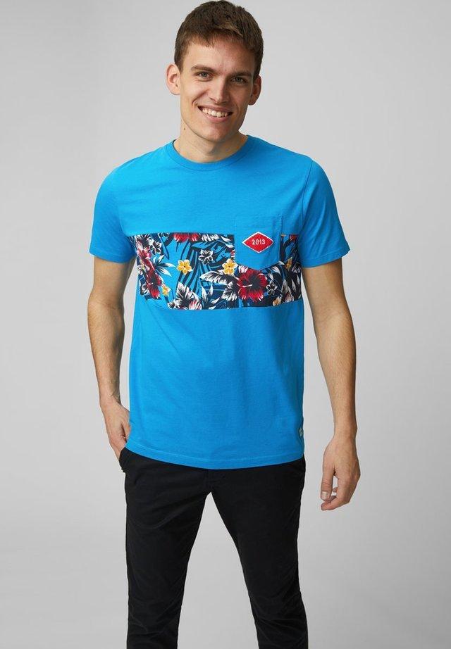 T-SHIRT BEDRUCKTES - T-shirt print - blue aster