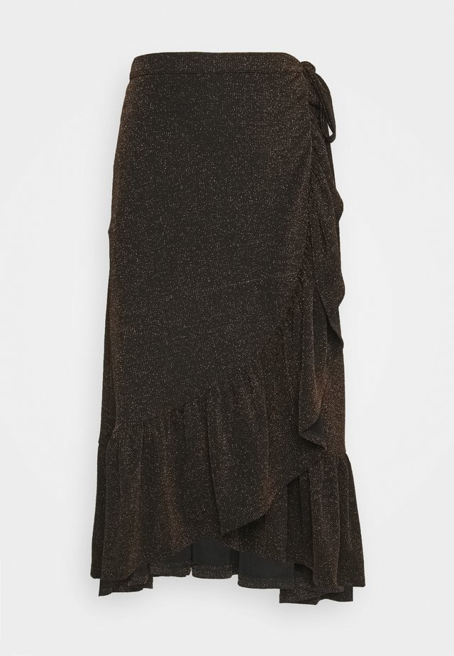 YASSARA LUREX  - A-line skirt - golden brown