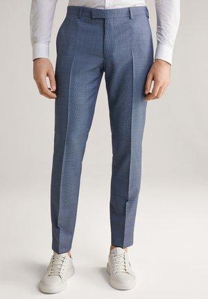 BLAYR - Suit trousers - hellblau gemustert