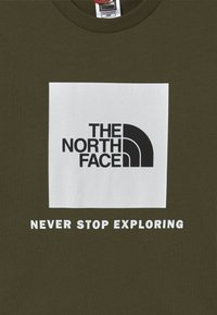 The North Face - BOX TEE UNISEX - Print T-shirt - new taupe green/white - 3