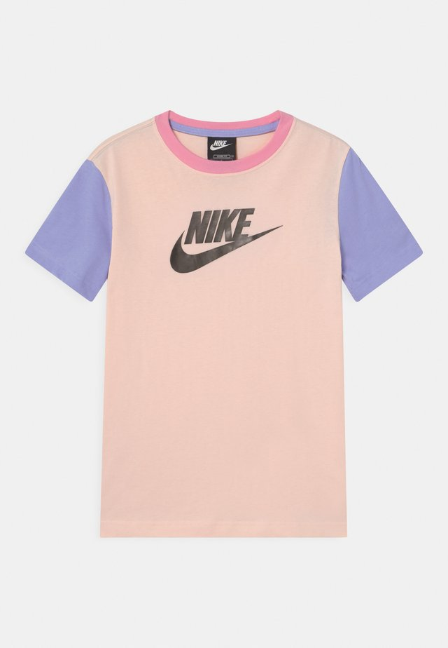 T-shirt print - orange pearl/light thistle/pink