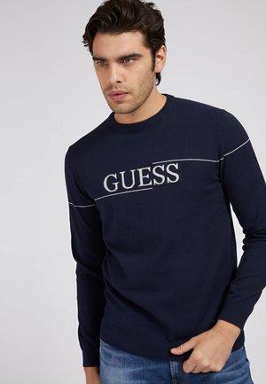 LOGO JACQUARD - Sweatshirt - blau