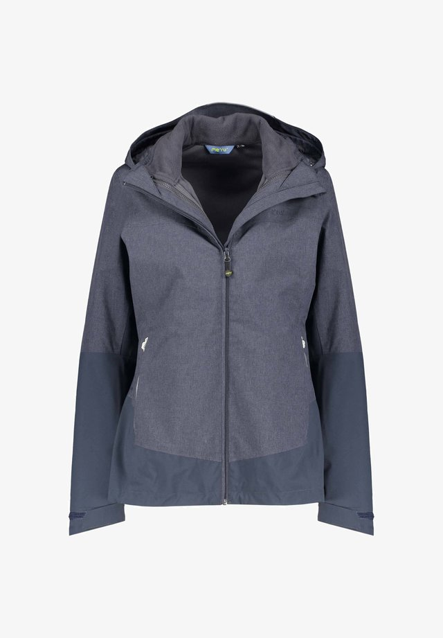 DOPPEL HARSTAD - Fleece jacket - marine mel. (307)