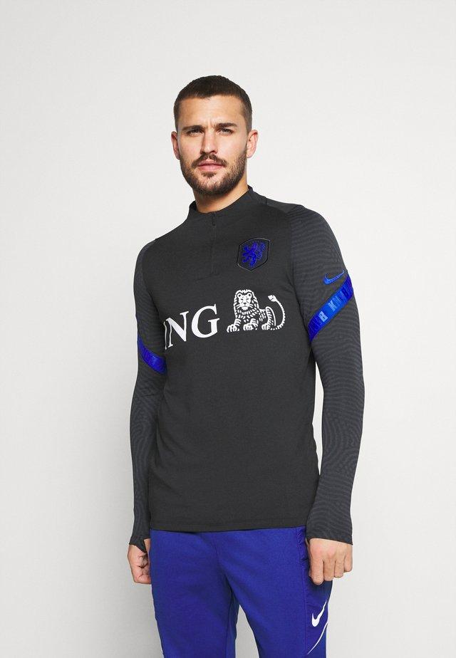 NIEDERLANDE DRY  - Sports shirt - black/bright blue