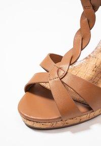 Dune London WIDE FIT - WIDE FIT KOALA - Platform sandals - tan - 2
