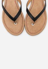s.Oliver - SLIDES - T-bar sandals - black - 5