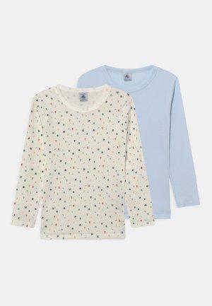 2 PACK UNISEX - Long sleeved top - light blue