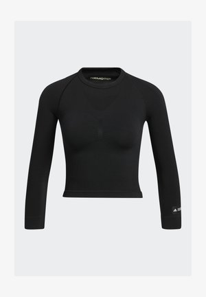 FORMOTION CROPPED TRAINING TEE - Pitkähihainen paita - black