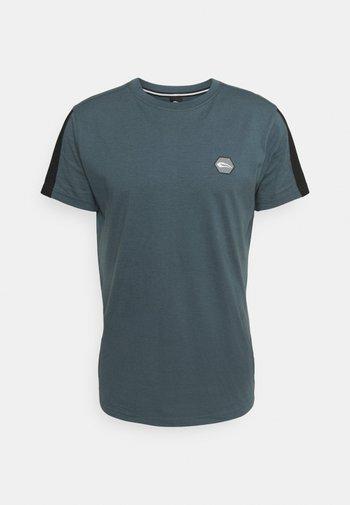 Print T-shirt - graublau