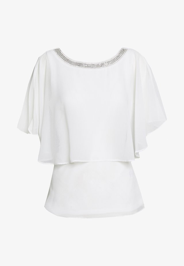 EMBELLISHED NECK CAPE - Blouse - ivory