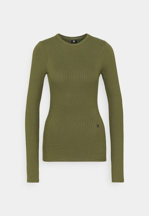 SLIM RIB LONGSLEEVE - Long sleeved top - sage