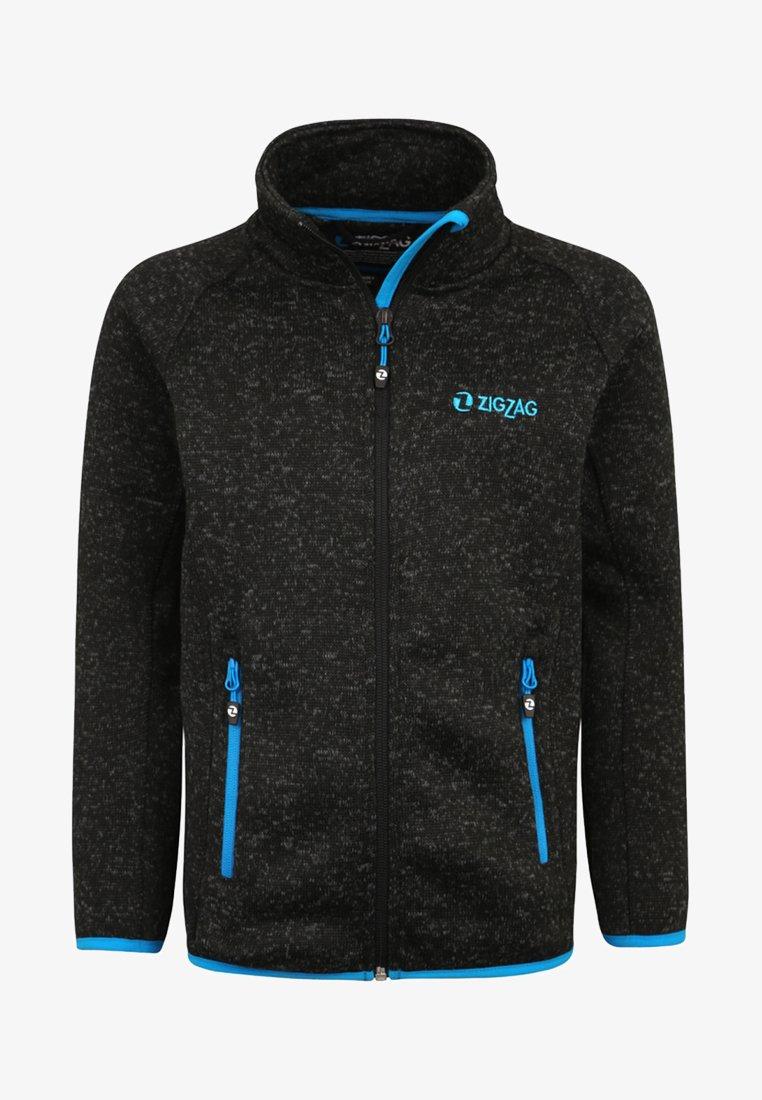 ZIGZAG - Fleece jacket - black