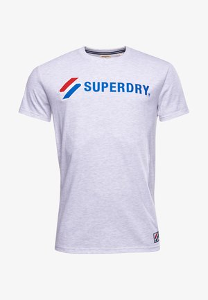 SUPERDRY SPORTSTYLE APPLIQUE  - Printtipaita - ice marl