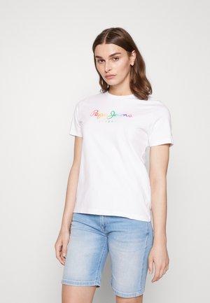 SYLVIA - Print T-shirt - white