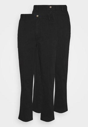TROUSER 2 PACK - Trousers - black/black