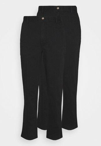 TROUSER 2 PACK - Pantaloni - black/black