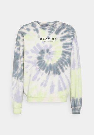 Sweatshirt - lime/grey