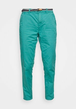 FLOW - Chinos - teal green