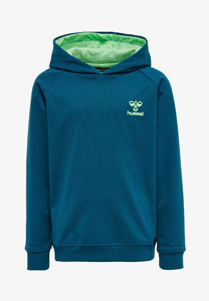 Hummel - Hoodie - blue coral green ash