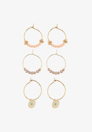 SET MIT CUT-OUT-MOTIV, ORNAMENT-DESIGN - Earrings - goldfarben