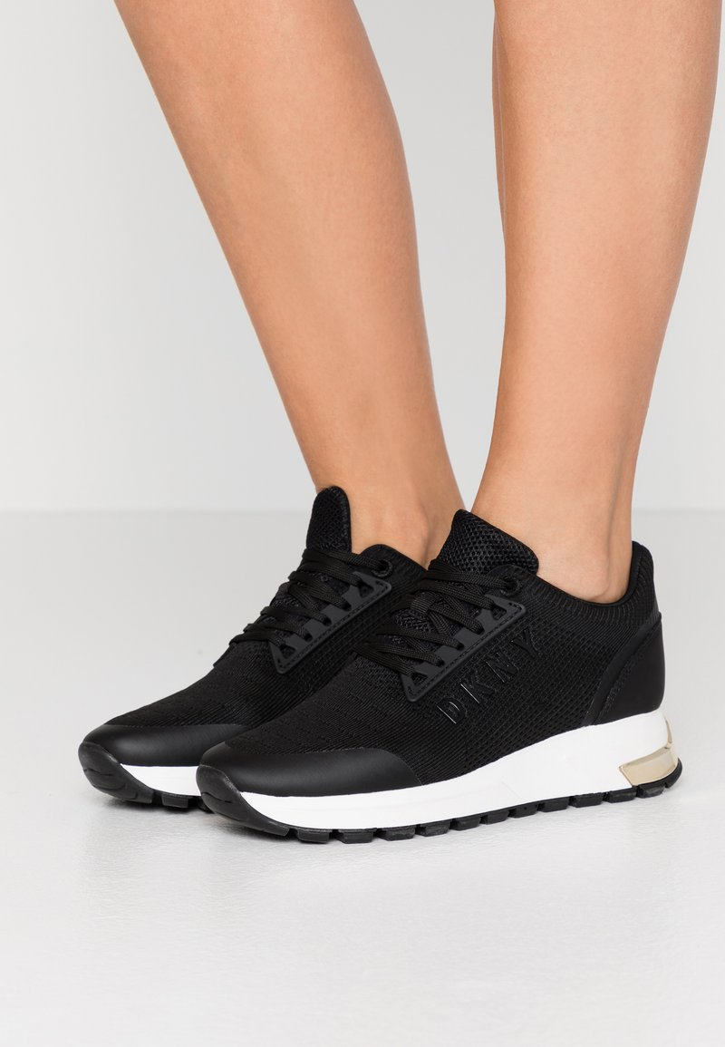 DKNY - MELZ LACE UP  - Trainers - black