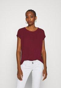 Vero Moda - VMAVA PLAIN - T-shirt basic - cabernet - 0