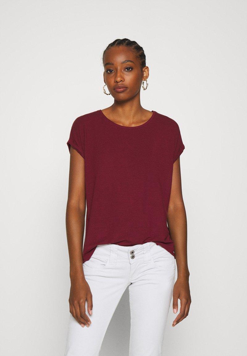 Vero Moda - VMAVA PLAIN - Jednoduché triko - cabernet