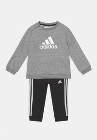 adidas Performance - LOGO SET UNISEX - Treningsdress - medium grey heather/white/black - 0