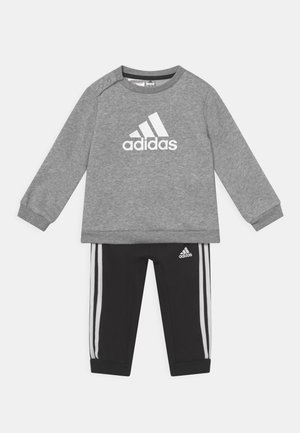 LOGO SET UNISEX - Survêtement - medium grey heather/white/black