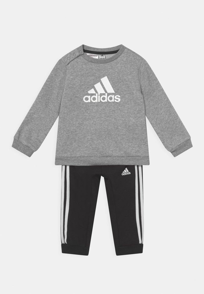 adidas Performance - LOGO SET UNISEX - Treningsdress - medium grey heather/white/black