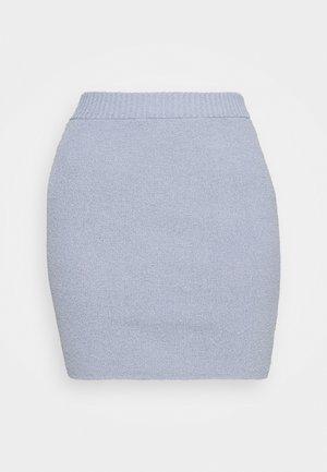 MIMI MINI SKIRT - Mini skirt - silver blue