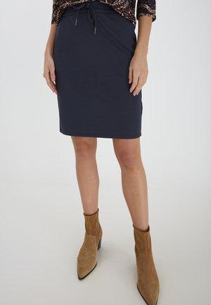 FRPELUX 3 - Pencil skirt - dark peacoat melange