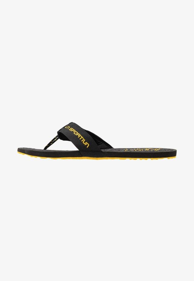 JANDAL - Flip Flops - black/yellow