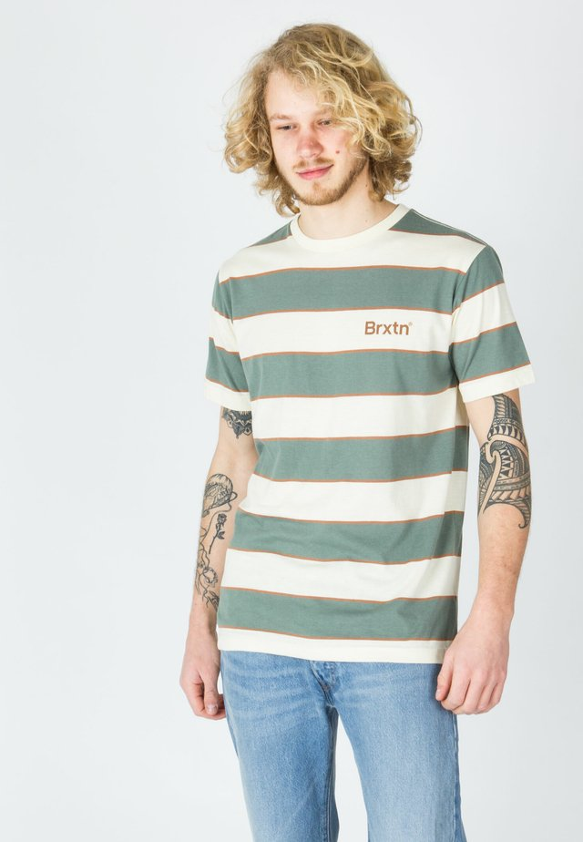 T-shirt con stampa - dove/cypress