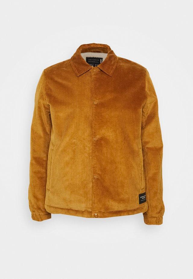 CORDUROY COACH JACKET - Summer jacket - camel