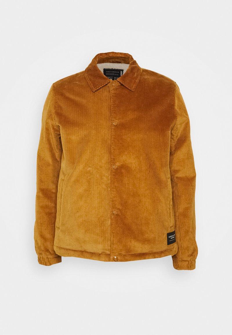 Scotch & Soda - CORDUROY COACH JACKET - Summer jacket - camel