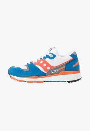 AZURA - Sneakers basse - grey/orange/blue