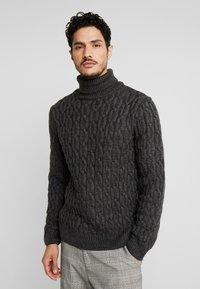 Pier One - Jersey de punto - mottled dark grey - 0