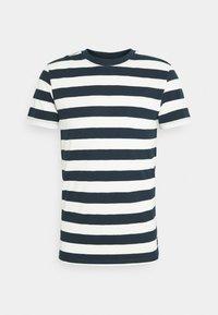 STRIPED - T-shirt print - navy