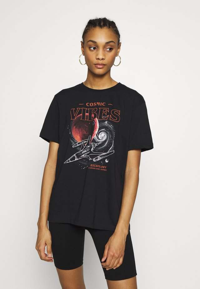 CLARE COSMIC  - Print T-shirt - black