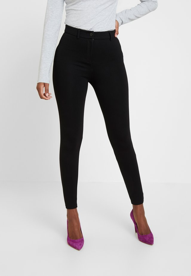 BUTTON TREGGING - Leggings - black