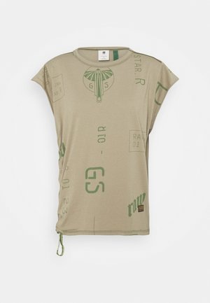 GSRAW GYRE KNOT CAP - Print T-shirt - hatton contour